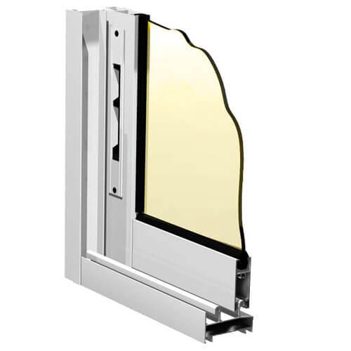 окна с рамой из алюминиевого профиля
