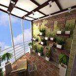 Японский садик на балконе