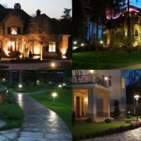 Освещения загородного дома