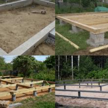 Виды фундамента для каркасных домов