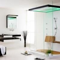 Душевые двери экономят место в ванной