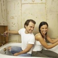 Ремонт в ванной комнате: освещение, плитка, потолок