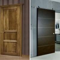 Основные материалы для дверей